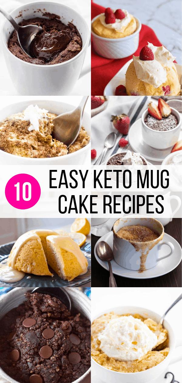 10 Delicious Keto Mug Cake Recipes - Inspired Her Way